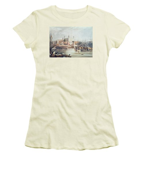 View Of The Tower Of London Women's T-Shirt (Junior Cut) by John Gendall