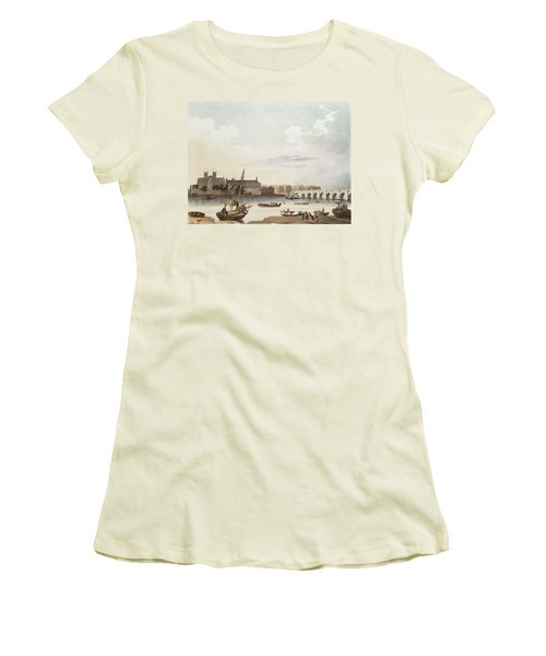 View Of Westminster And The Bridge Wc On Paper Women's T-Shirt (Junior Cut) by English School
