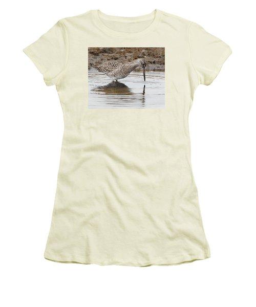 Willet Women's T-Shirt (Junior Cut) by Bill Wakeley