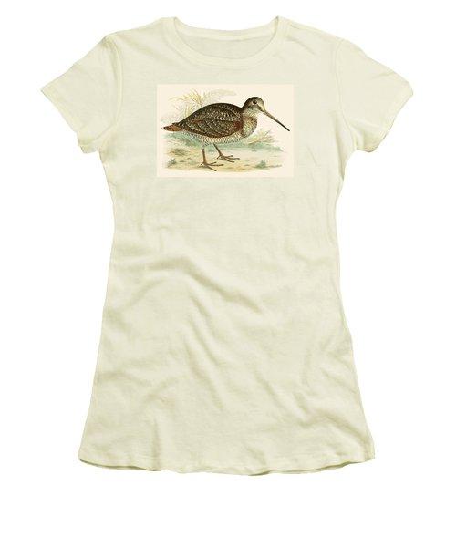 Woodcock Women's T-Shirt (Junior Cut) by Beverley R Morris
