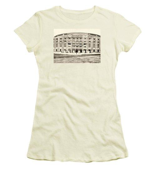Yankee Stadium Women's T-Shirt (Junior Cut) by Bill Cannon