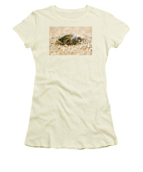 Close Up Tiger Salamander Women's T-Shirt (Junior Cut) by Mark Duffy