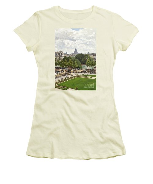 Garden Of The Princess Women's T-Shirt (Junior Cut) by Claude Monet