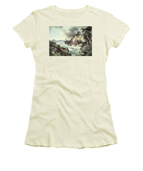 Point Lobos At Monterey In California Women's T-Shirt (Junior Cut) by Thomas Moran