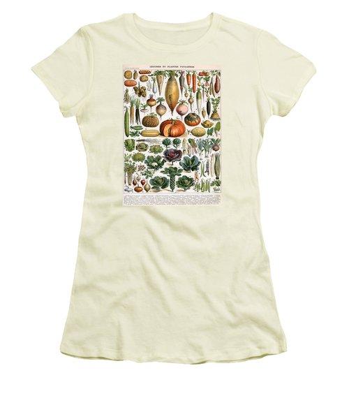 Illustration Of Vegetable Varieties Women's T-Shirt (Junior Cut) by Alillot