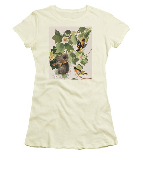 Baltimore Oriole Women's T-Shirt (Junior Cut) by John James Audubon