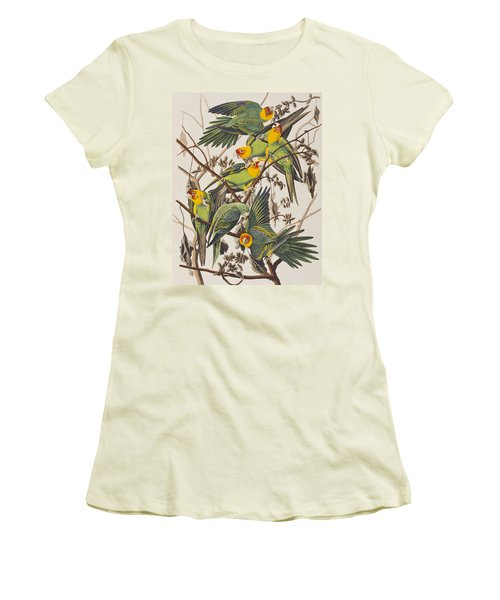 Carolina Parrot Women's T-Shirt (Junior Cut) by John James Audubon