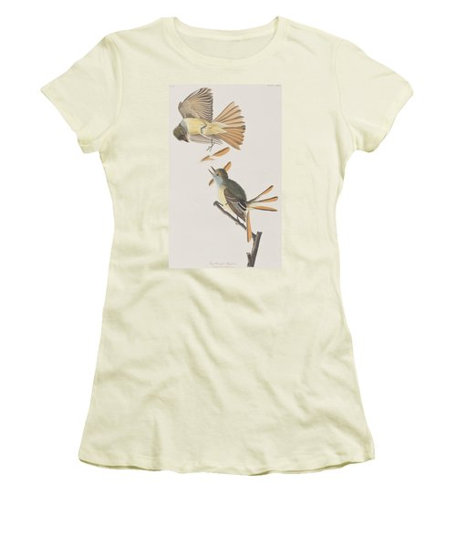 Great Crested Flycatcher Women's T-Shirt (Junior Cut) by John James Audubon