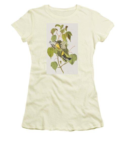 Hemlock Warbler Women's T-Shirt (Junior Cut) by John James Audubon