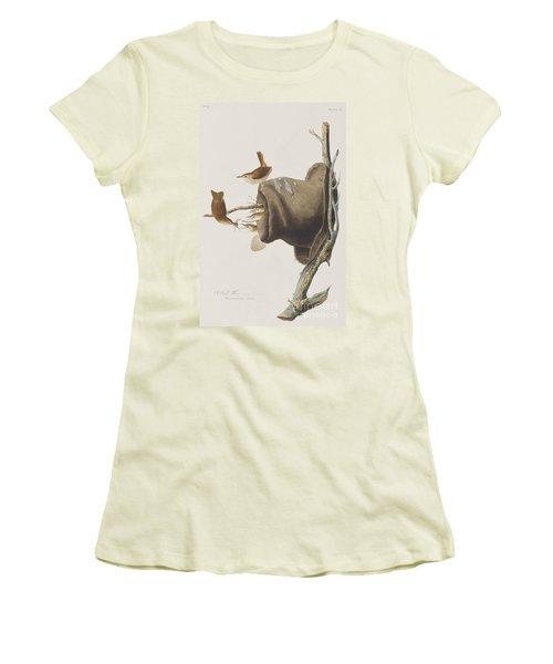 House Wren Women's T-Shirt (Junior Cut) by John James Audubon