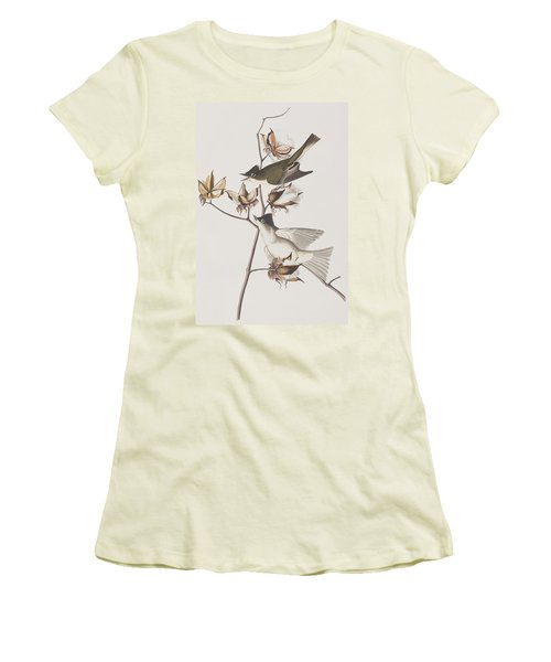 Pewit Flycatcher Women's T-Shirt (Junior Cut) by John James Audubon