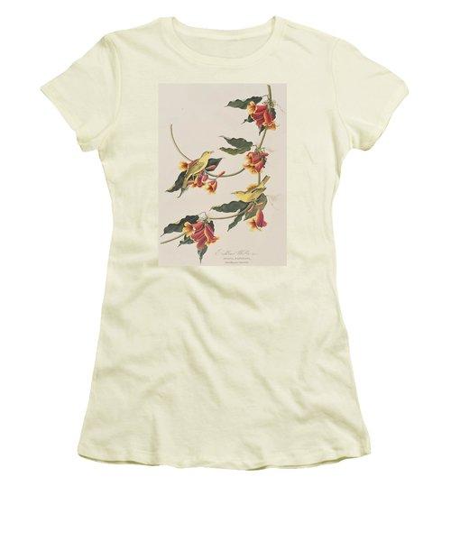 Rathbone Warbler Women's T-Shirt (Junior Cut) by John James Audubon