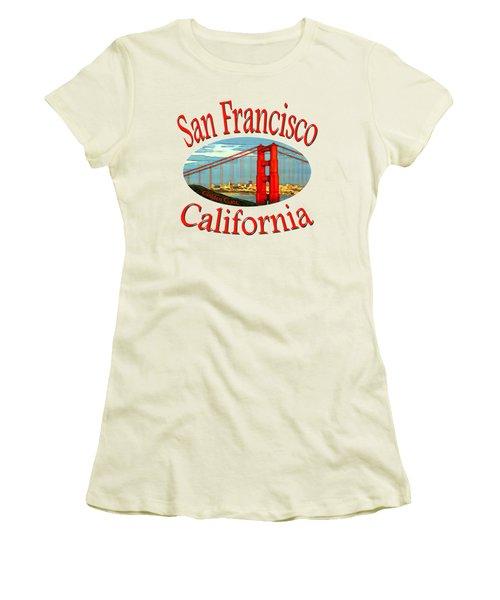 San Francisco California - Tshirt Design Women's T-Shirt (Junior Cut) by Art America Online Gallery