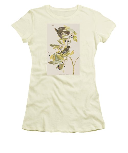 Small Green Crested Flycatcher Women's T-Shirt (Junior Cut) by John James Audubon