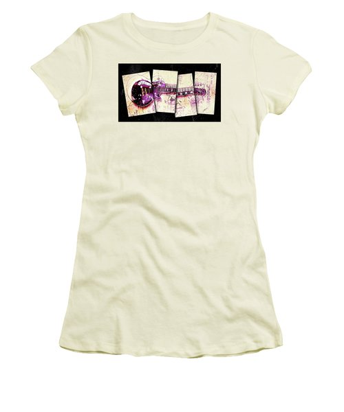 1955 Les Paul Custom Black Beauty V3 Women's T-Shirt (Junior Cut) by Gary Bodnar