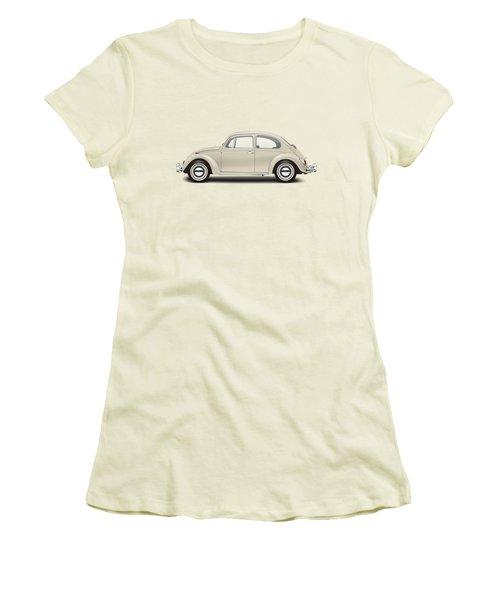 1965 Volkswagen 1200 Deluxe Sedan - Panama Beige Women's T-Shirt (Junior Cut) by Ed Jackson