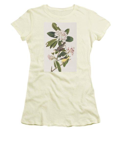 Canada Warbler Women's T-Shirt (Junior Cut) by John James Audubon