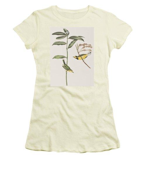 Hooded Warbler  Women's T-Shirt (Junior Cut) by John James Audubon