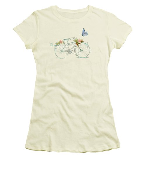Summer At Cape May - Bicycle Women's T-Shirt (Junior Cut) by Audrey Jeanne Roberts
