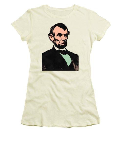 Abe Lincoln 2 Women's T-Shirt (Junior Cut) by Otis Porritt