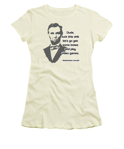 Abebroham Lincoln Women's T-Shirt (Junior Cut) by Michelle Murphy