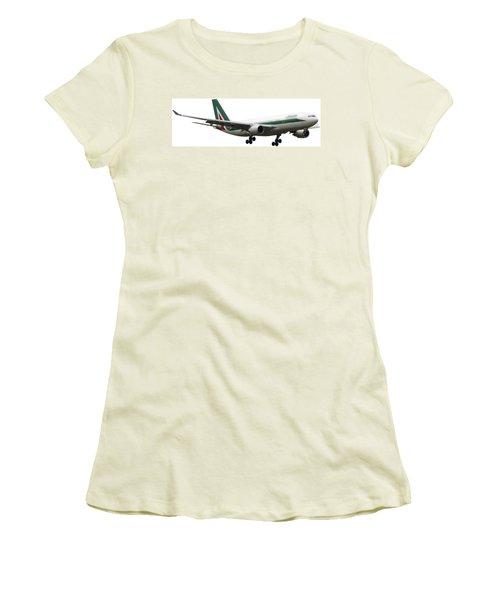 Alitalia, Airbus A330-202. Women's T-Shirt (Junior Cut) by Amos Dor