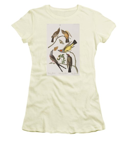 Arkansaw Flycatcher Swallow-tailed Flycatcher Says Flycatcher Women's T-Shirt (Junior Cut) by John James Audubon