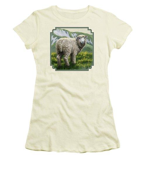 Highland Ewe Women's T-Shirt (Junior Cut) by Crista Forest