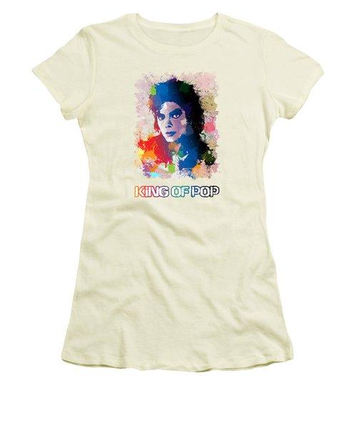 King Of Pop Women's T-Shirt (Junior Cut) by Anthony Mwangi