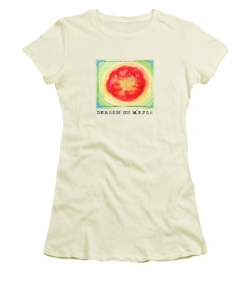 Fresh Tomato Women's T-Shirt (Junior Cut) by Kathleen Wong