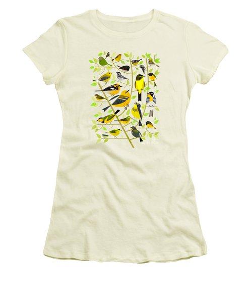 Warblers 1 Women's T-Shirt (Junior Cut) by Scott Partridge