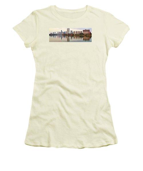 Austin Wide Shot Women's T-Shirt (Junior Cut) by Frozen in Time Fine Art Photography