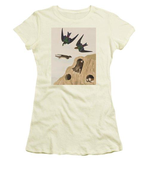 Bank Swallows Women's T-Shirt (Junior Cut) by John James Audubon