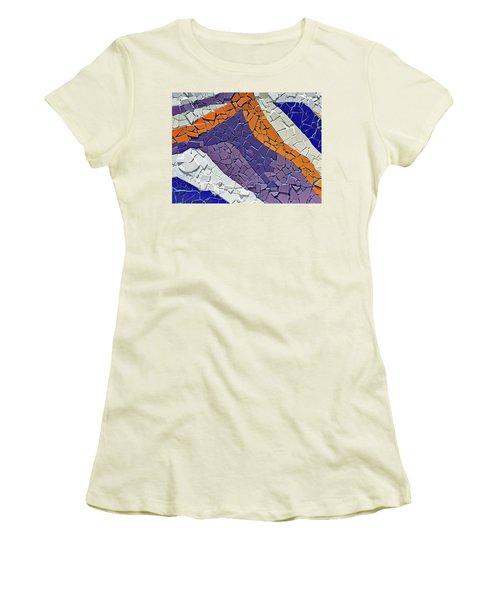 Barrio Bellavista Mosaic Detail No. 169-1 Women's T-Shirt (Junior Cut) by Sandy Taylor