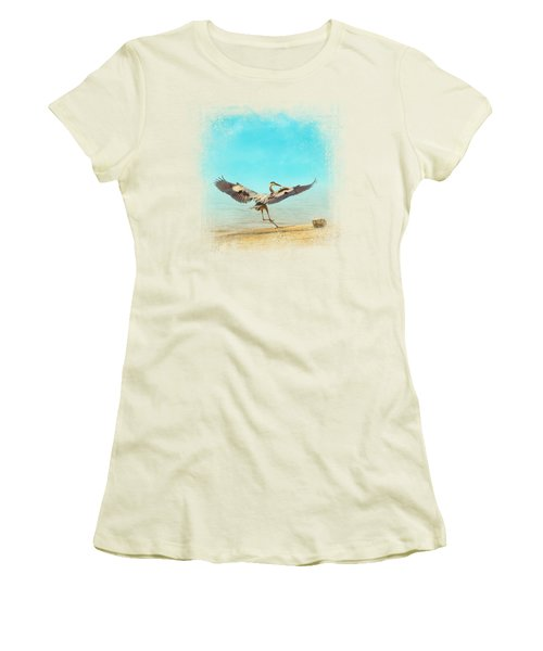 Beach Dancing Women's T-Shirt (Junior Cut) by Jai Johnson