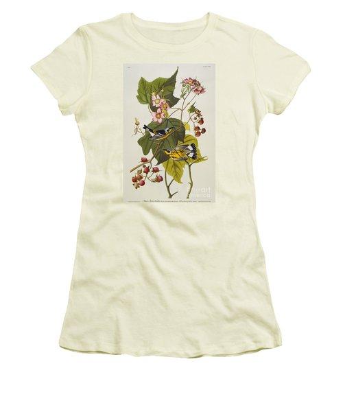 Black And Yellow Warbler Women's T-Shirt (Junior Cut) by John James Audubon