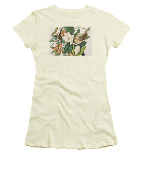 Black Billed Cuckoo Women's T-Shirt (Junior Cut) by John James Audubon
