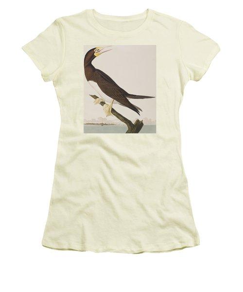 Booby Gannet   Women's T-Shirt (Junior Cut) by John James Audubon