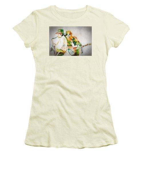 Bruce And The Big Man Women's T-Shirt (Junior Cut) by Dan Sproul