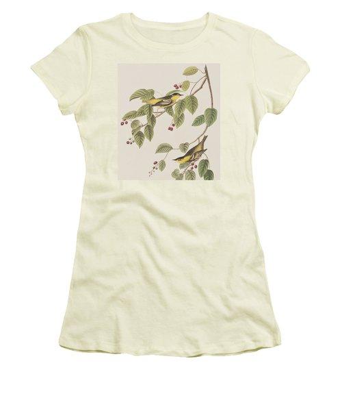Carbonated Warbler Women's T-Shirt (Junior Cut) by John James Audubon