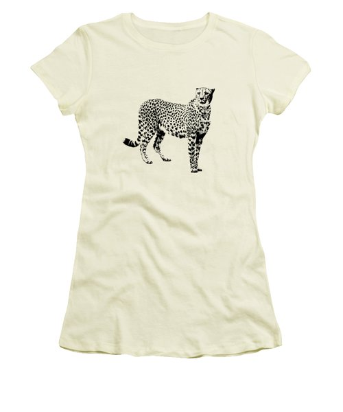 Cheetah Cutout Women's T-Shirt (Junior Cut) by Greg Noblin