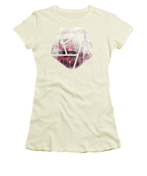 City-art London Westminster Collage II Women's T-Shirt (Junior Cut) by Melanie Viola
