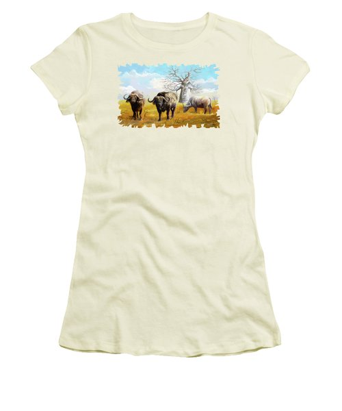 Confidence Women's T-Shirt (Junior Cut) by Anthony Mwangi