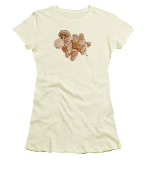 Cuddly Camel Women's T-Shirt (Junior Cut) by Angeles M Pomata