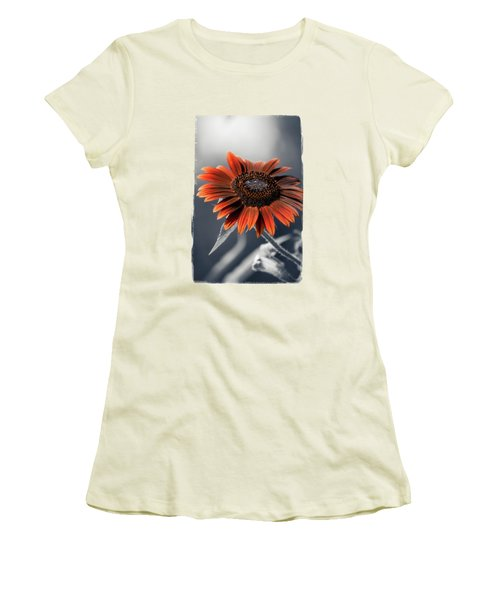 Dark Sunflower Women's T-Shirt (Junior Cut) by Konstantin Sevostyanov
