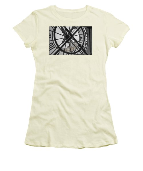 D'orsay Clock Paris Women's T-Shirt (Junior Cut) by Joan Carroll