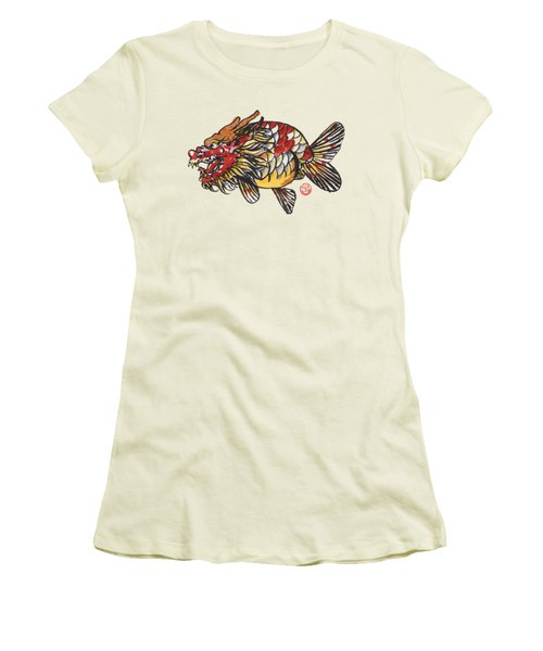 Dragon Ranchu Women's T-Shirt (Junior Cut) by Shih Chang Yang
