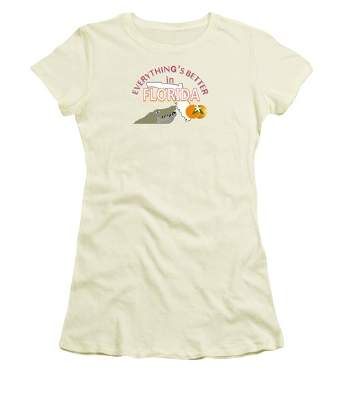 Everything's Better In Florida Women's T-Shirt (Junior Cut) by Pharris Art