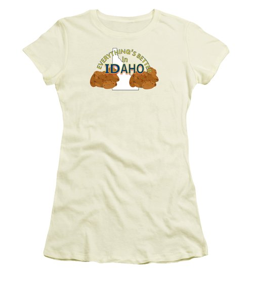 Everything's Better In Idaho Women's T-Shirt (Junior Cut) by Pharris Art