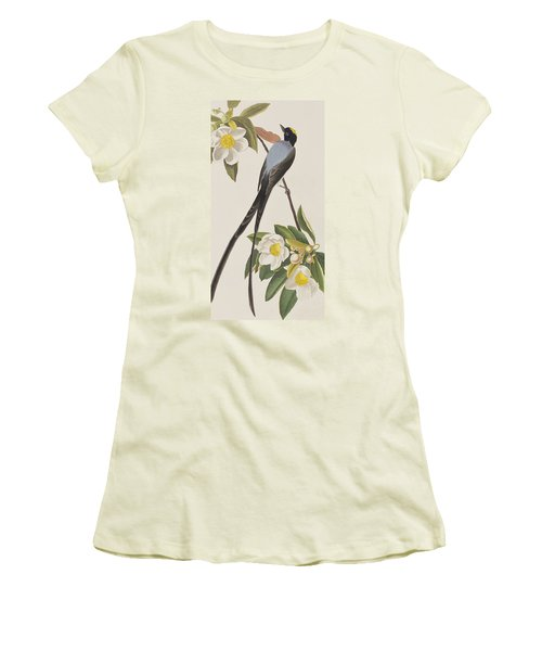 Fork-tailed Flycatcher  Women's T-Shirt (Junior Cut) by John James Audubon